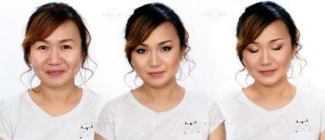 Makijaż ślubny podkreślający azjatyckie rysy i czarne oczy